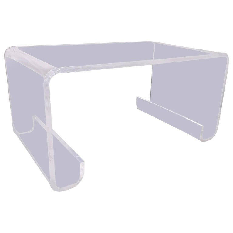 Lucite Waterfall Cocktail Table in Hollis Jones Manner