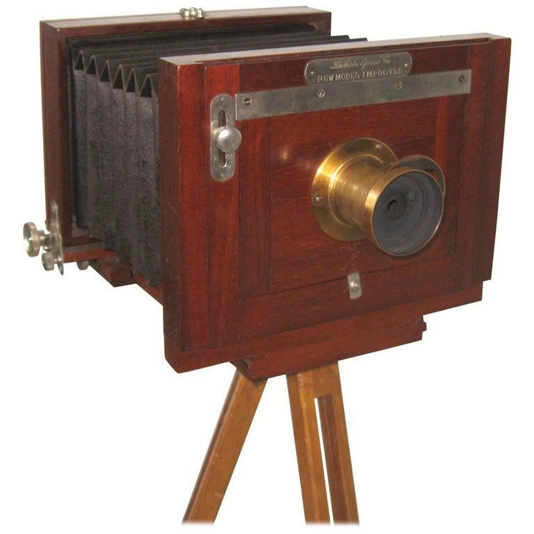 Rochester Optical Co Large Format Wood Camera Tripod and Case