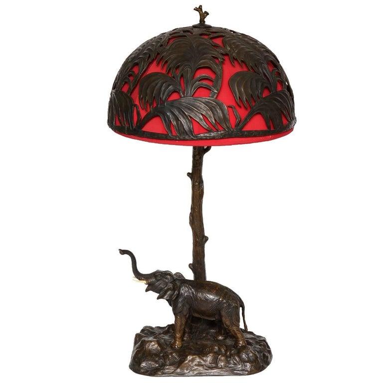 Cast Iron Elephant Table Lamp