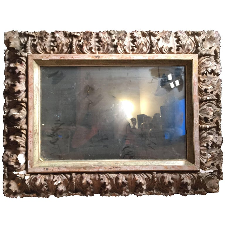 Antique Italian Gilt 19th Century Picture Frame or Mirror Baroque ...