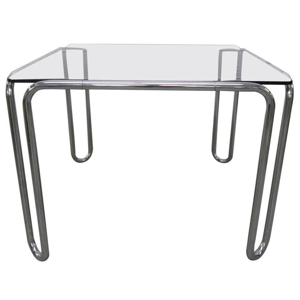 Marcel Breuer Tubular Steel B10 Table