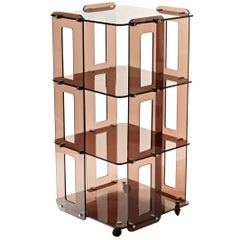1970s French Lucite Bookcase in the Manner of Boris Tabacoff