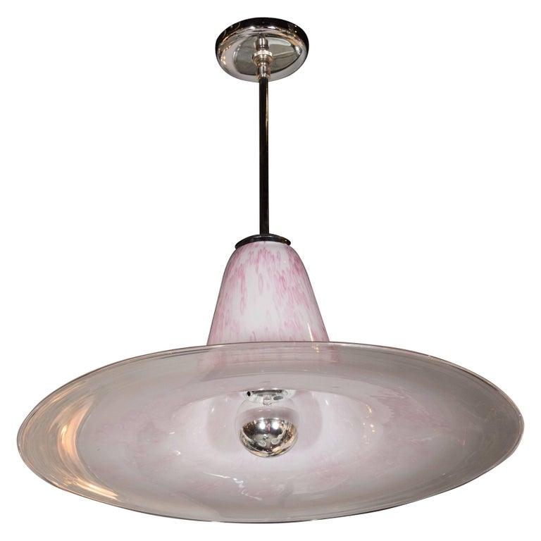 Gorgeous Mid-Century Modern Murano Glass Saturn Chandelier