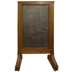 American Oak and Glass Display Board