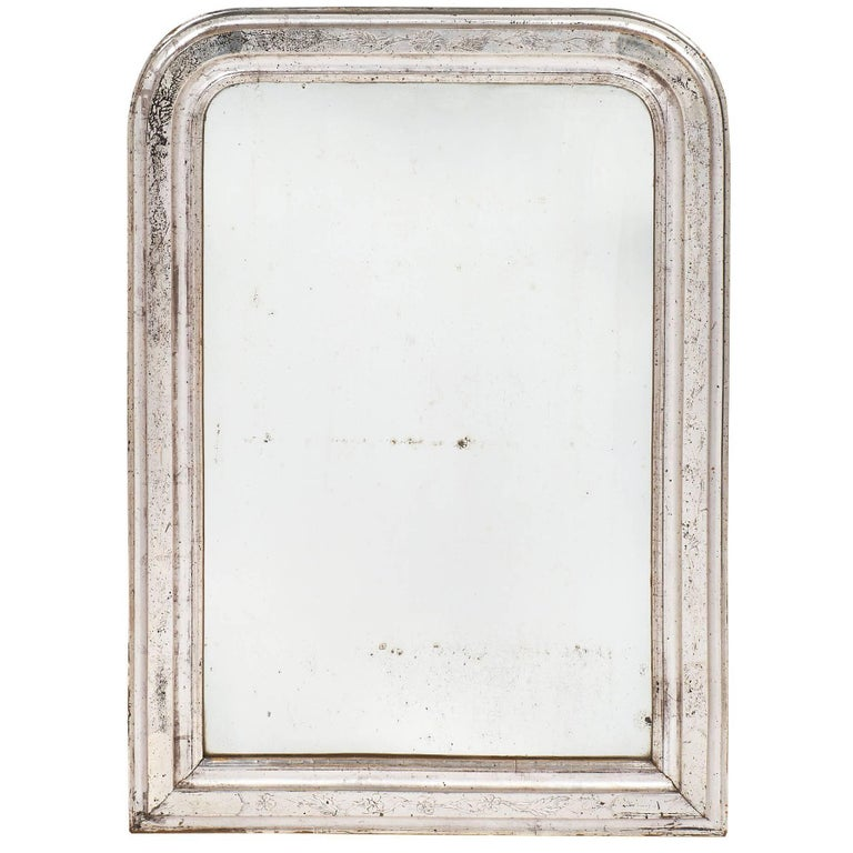 Louis Philippe 19th Century Silver Leafed Mirror