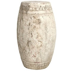 Chinese White Marble Drum Stool