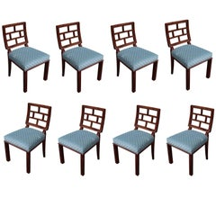 German Art Deco Period Set of Eight Dining Chairs