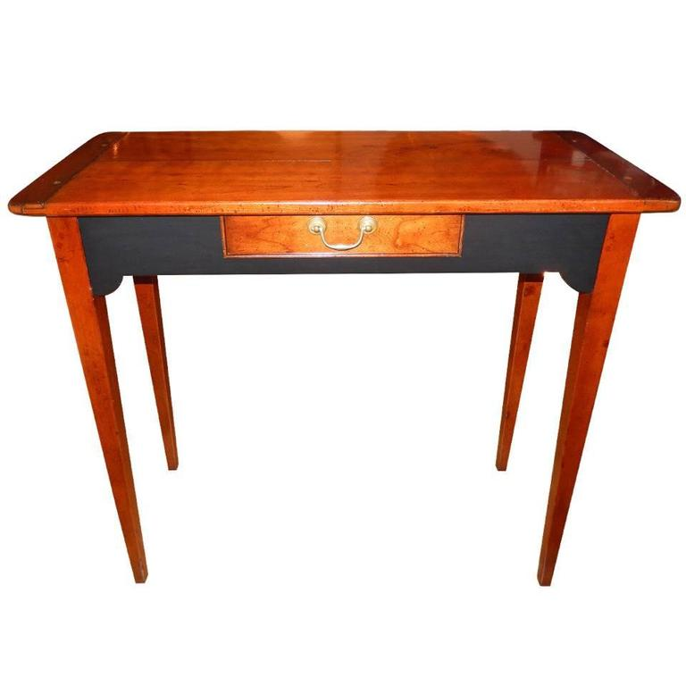 Custom Cherrywood and Ebony Console Table For Sale