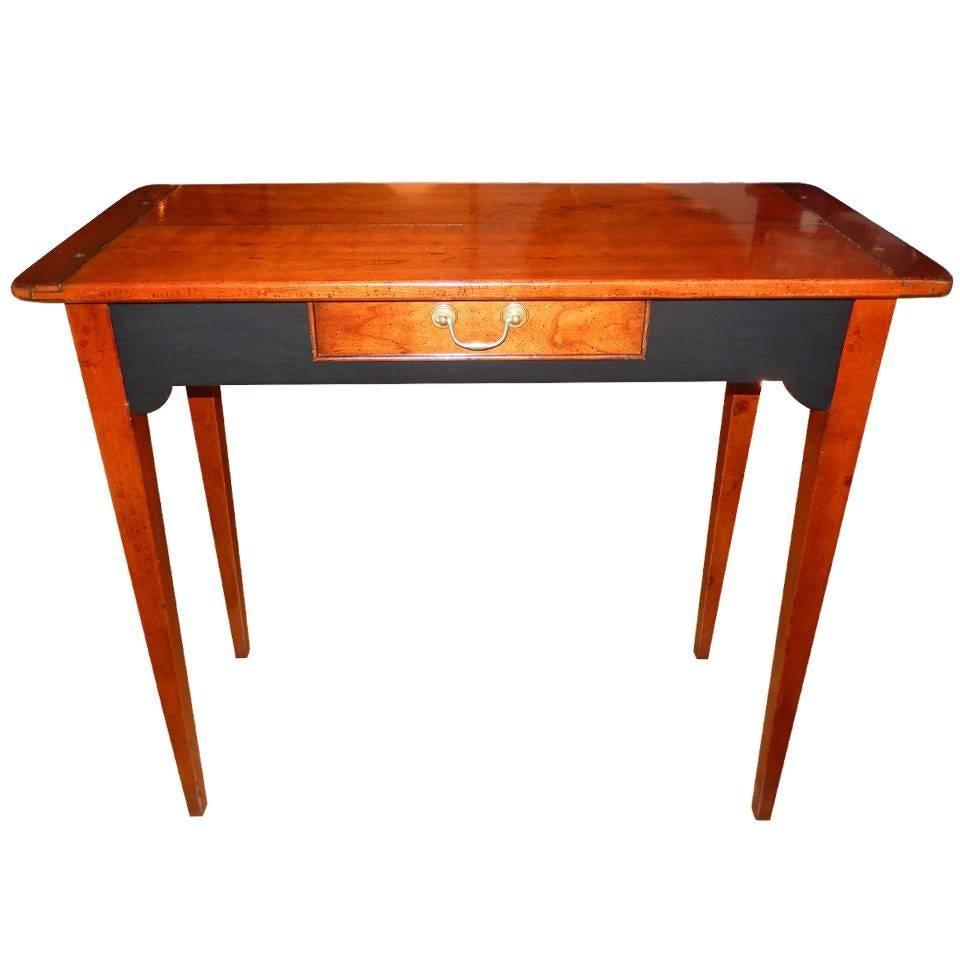 Custom Cherrywood and Ebony Console Table