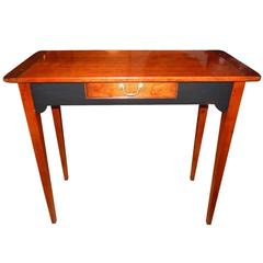 Custom Cherrywood and Ebony Console Table