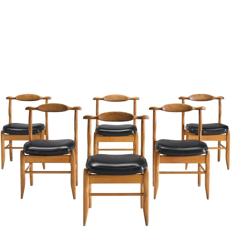 Guillerme & Chambron Oak Dining Chairs