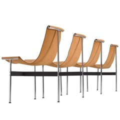 Katavolos, Kelley and Littell T-Chairs in Original Cognac Leather