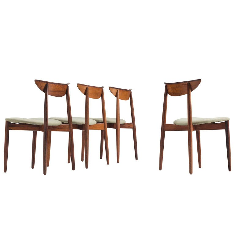 Harry Østergaard Rosewood Dining Chairs For Sale