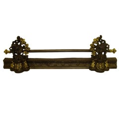 French Iron and Brass Bar or Fender, 19th Century