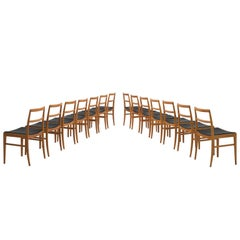 Arne Vodder Fourteen Teak Dining Chairs for Sibast