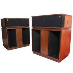 Rare Pair of Stunning Vintage 1973 Klipsch Model BK WO Belle Loud Speakers
