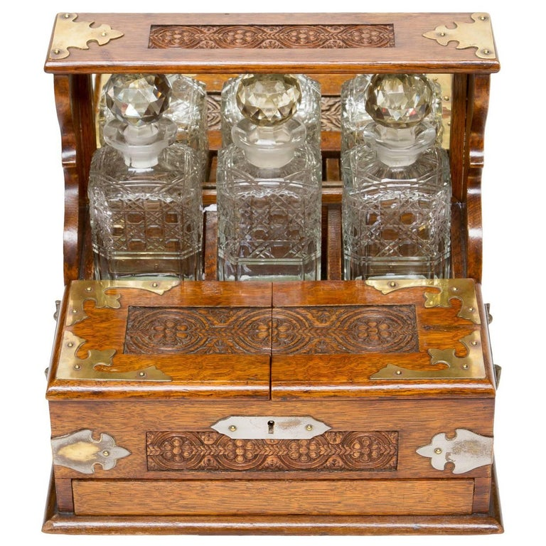 19th Century, English Decanter Set of with Case For Sale