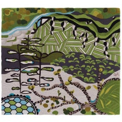 Angela Adams Underground Area Rug and Tapestry One-of-a-kind Handcrafted, Modern