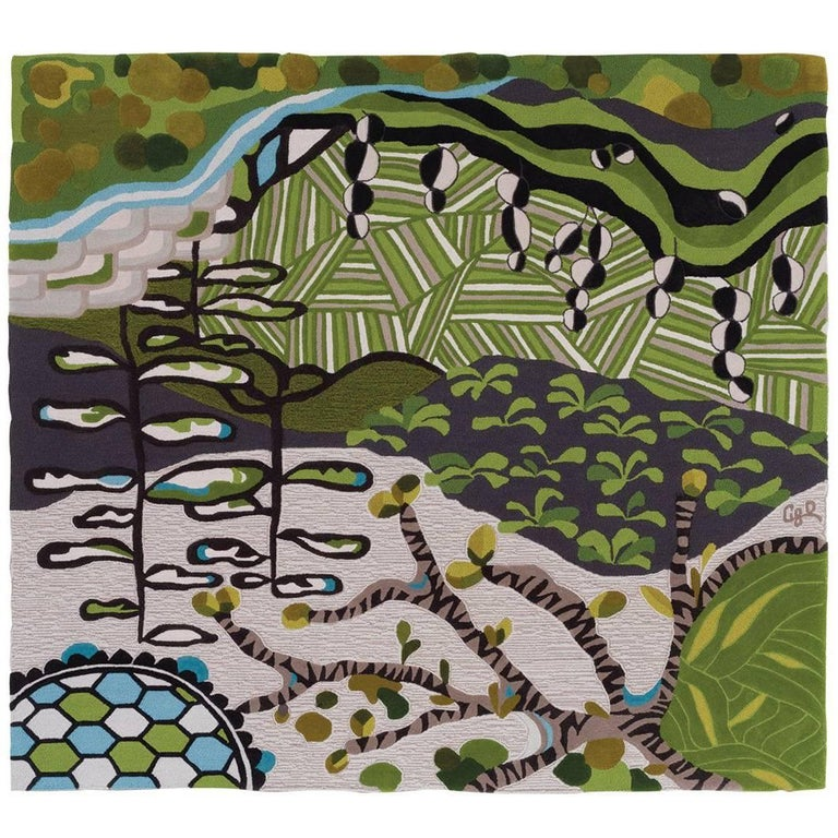 Angela Adams Underground Area Rug and Tapestry One-of-a-kind Handcrafted, Modern For Sale