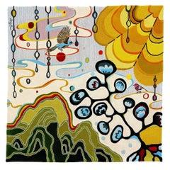 Angela Adams Rain Area Rug & Tapestry, One-of-a-kind, Handcrafted, Wool, Modern