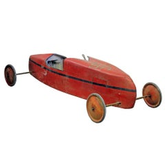 Vintage Soap Box Derby Car- Red