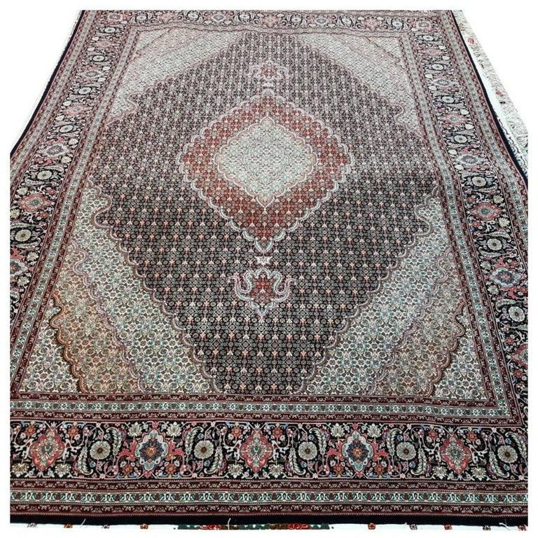 Mahi Genuine Hand-Knotted Persian Maralan Tabriz Rug/Carpet