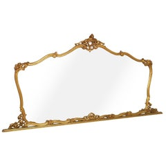 19th Century Venetian Baroque Wall Mirror Hand-Carved Gilt Walnut Gold Leaf