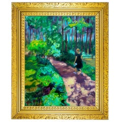 """""""A Walk in the Forest"""" Framed Original Oil on Canvas Still Life Painting"""