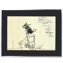 Original Peter Max Drawing, circa 1971