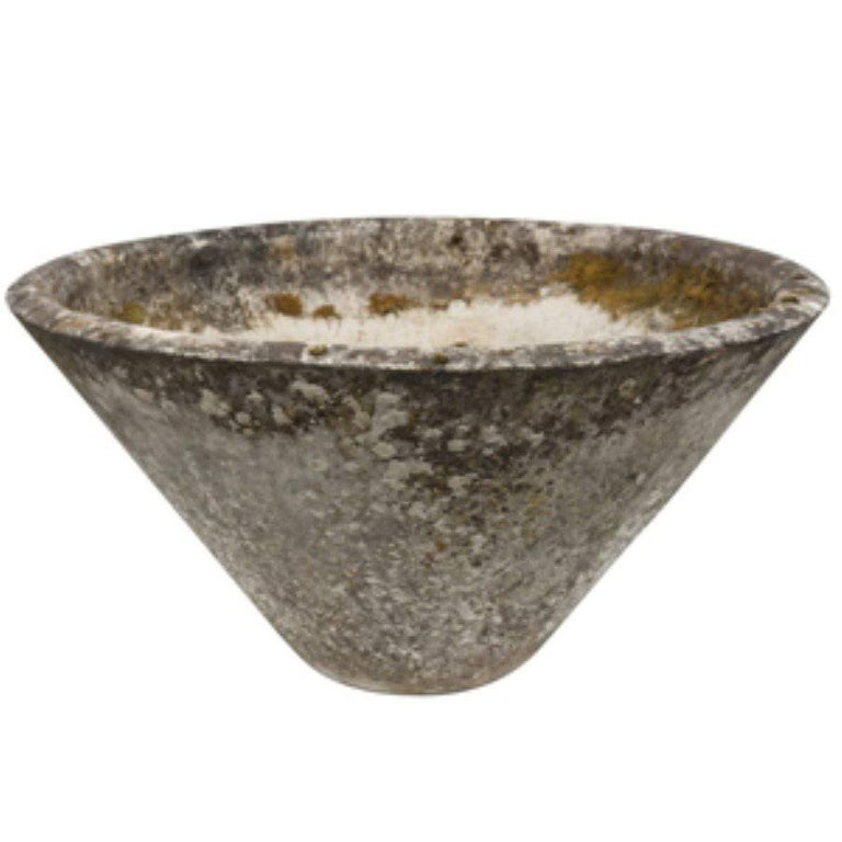 Modern French Conical Fiber Cement Planter, circa 1960 For Sale