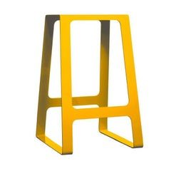 A_Stool Powder Coated Aluminum Counter Height Traffic Yellow by Jonathan Nesci