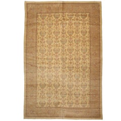Romanian Golden Rug with Modern Traditional Style