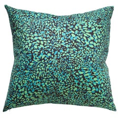 Cheetah Vision Pillow in Color Nocturnal 'Teal and Electric Green on Black'