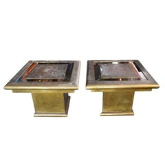 1970s Rodolfo Dubarry Signed Pair of Tables