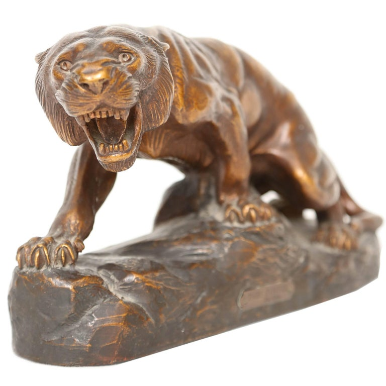 Terra Cotta Figure of a Tiger For Sale