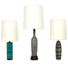 Selection of Mid Century Modern Ceramic Lamps