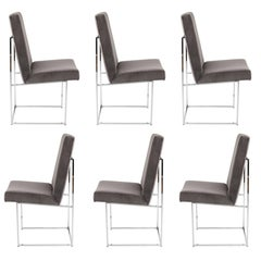 Set of Six Milo Baughman for Thayer Coggin Dining Chairs, circa 1980