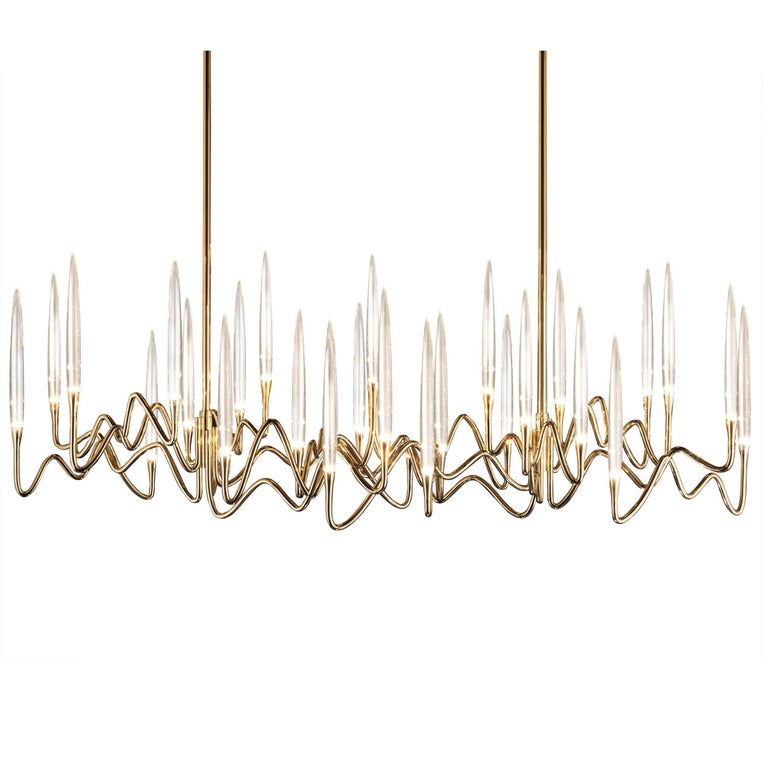 Il Pezzo 3 Long Chandelier At 1stdibs