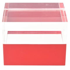 Italian Two-Part Lucite Vintage Box /HOLIDAY SATURDAY SALE