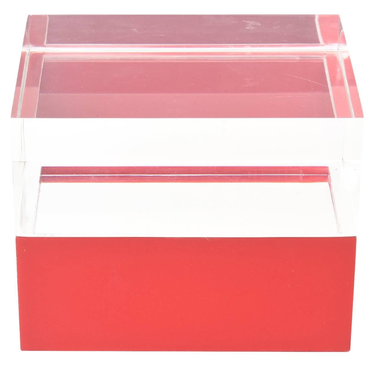 italian twopart lucite vintage box