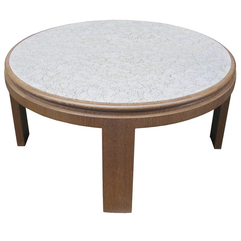 Modernist Eggshell Lacquered Cocktail Table