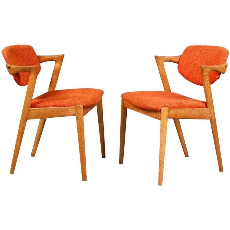 1960s Kai Kristiansen Model 42 Dining Chairs in Oak