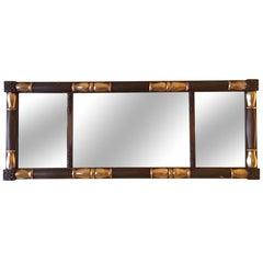 American Empire Style Over Mantel Mirror, 19th Century