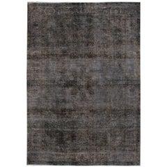 Vintage Distressed Overdyed Carpet