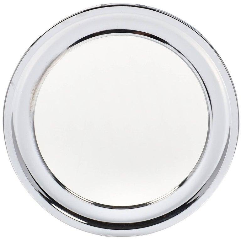 Vintage Circular Chrome Mirror