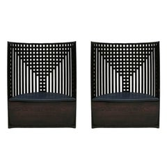 "Pair of Chairs ""Willow"" Designed by Charles Rennie Mackintosh Edited by Cassina"