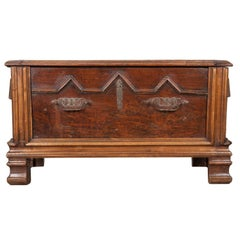 French Early 19th Century Oak Coffer