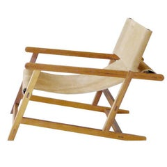"""""""Hanbury"""" Fabric or Leather Lounge Chair Made in Teak by Dessie' Collection"""