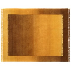 Eclipse Lo, Rug and Wall Tapestry Nepal Highland Wool and Cotton Yellow