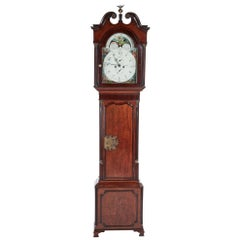 Fantastic Oak 8 Day Painted Face Moonphase Grandfather Clock